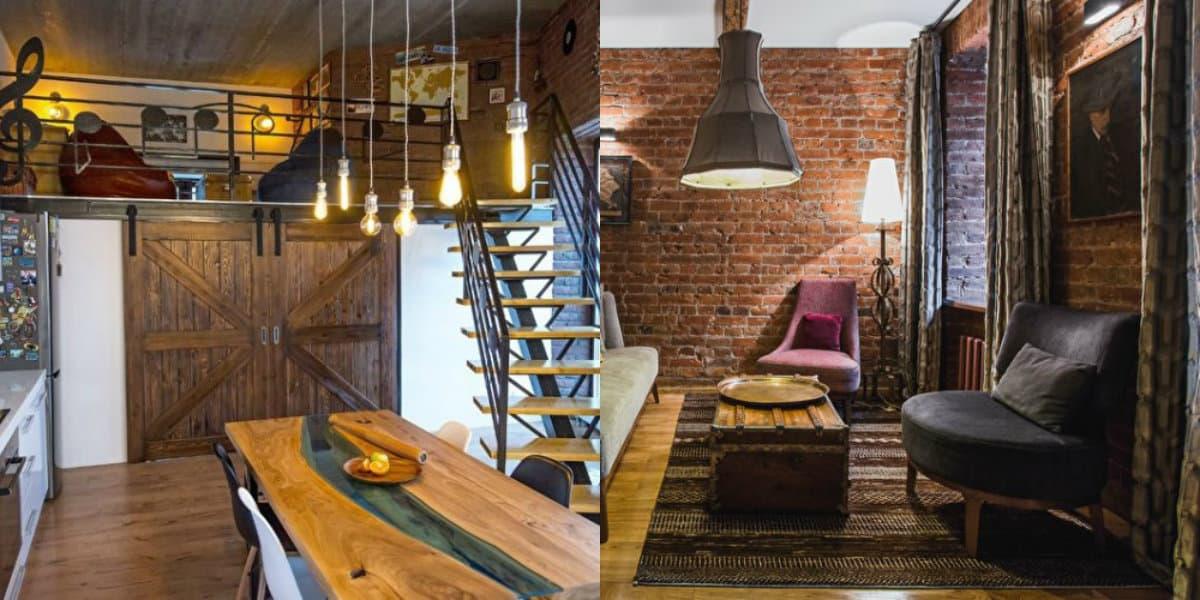 Квартира в стиле Лофт: светильники