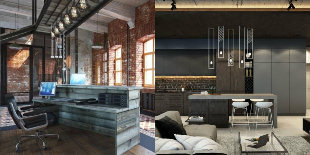 Квартира в стиле Лофт: кабинет