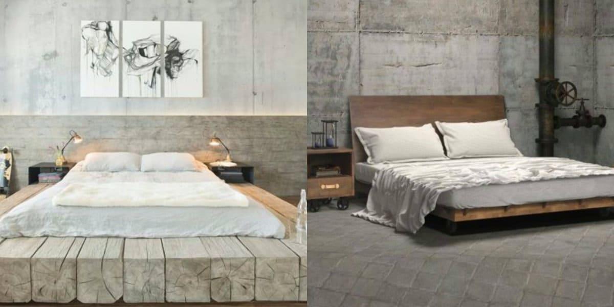 Комната в стиле Лофт: кровать