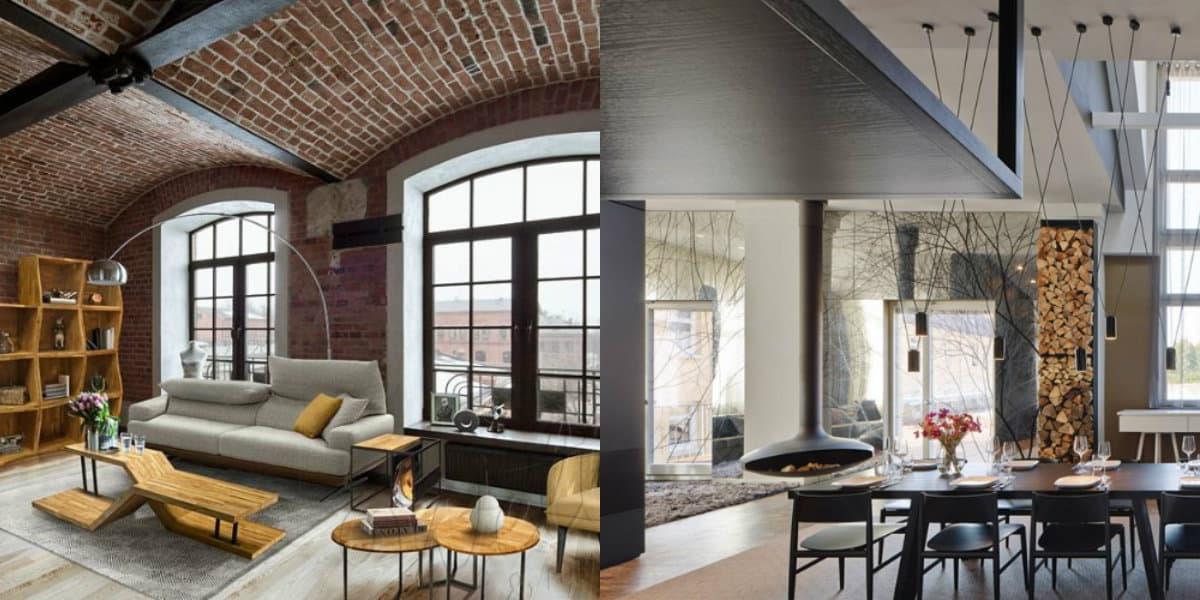 Комната в стиле Лофт: мебель