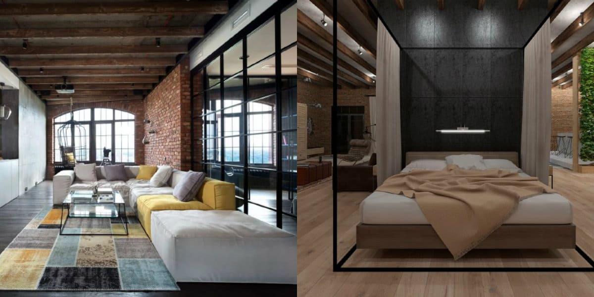 Комната в стиле Лофт: оформление помещения
