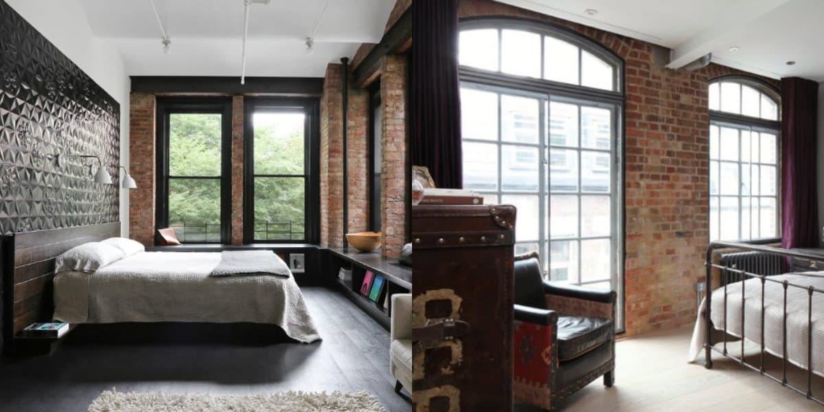 Комната в стиле Лофт: спальни