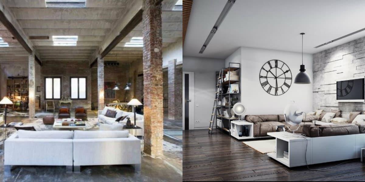 Комната в стиле Лофт: гостиная
