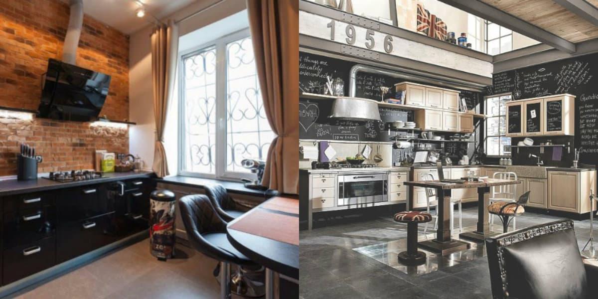 Комната в стиле Лофт: кухня