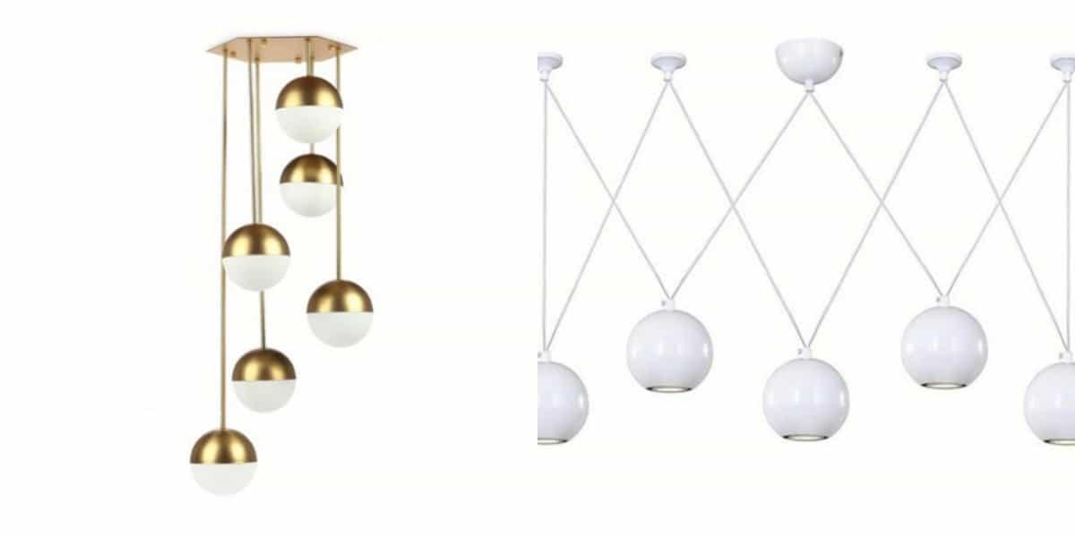 Люстры в скандинавском стиле: шары