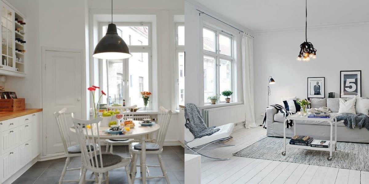 Люстры в скандинавском стиле: модели в индустриальном стиле
