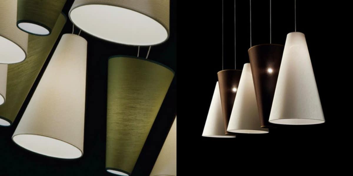 Люстры в скандинавском стиле: конообразные светильники