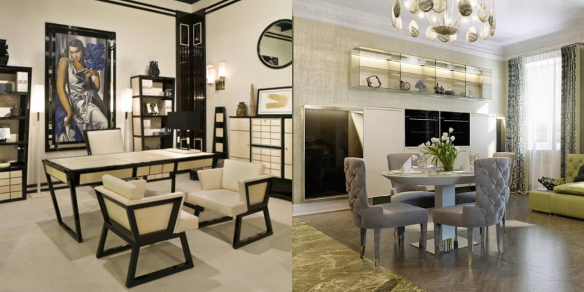 Мебель в стиле Арт деко: стол и стулья