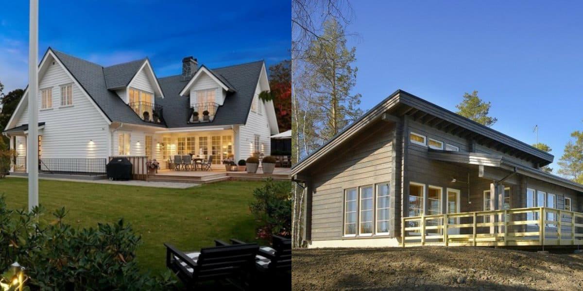 Скандинавский стиль дома: различные проекты