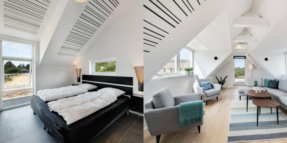 Скандинавский стиль дома: спальня