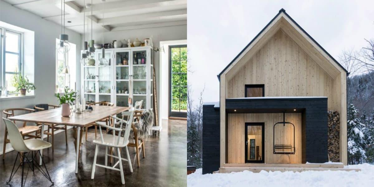 Скандинавский стиль дома: маленький домик