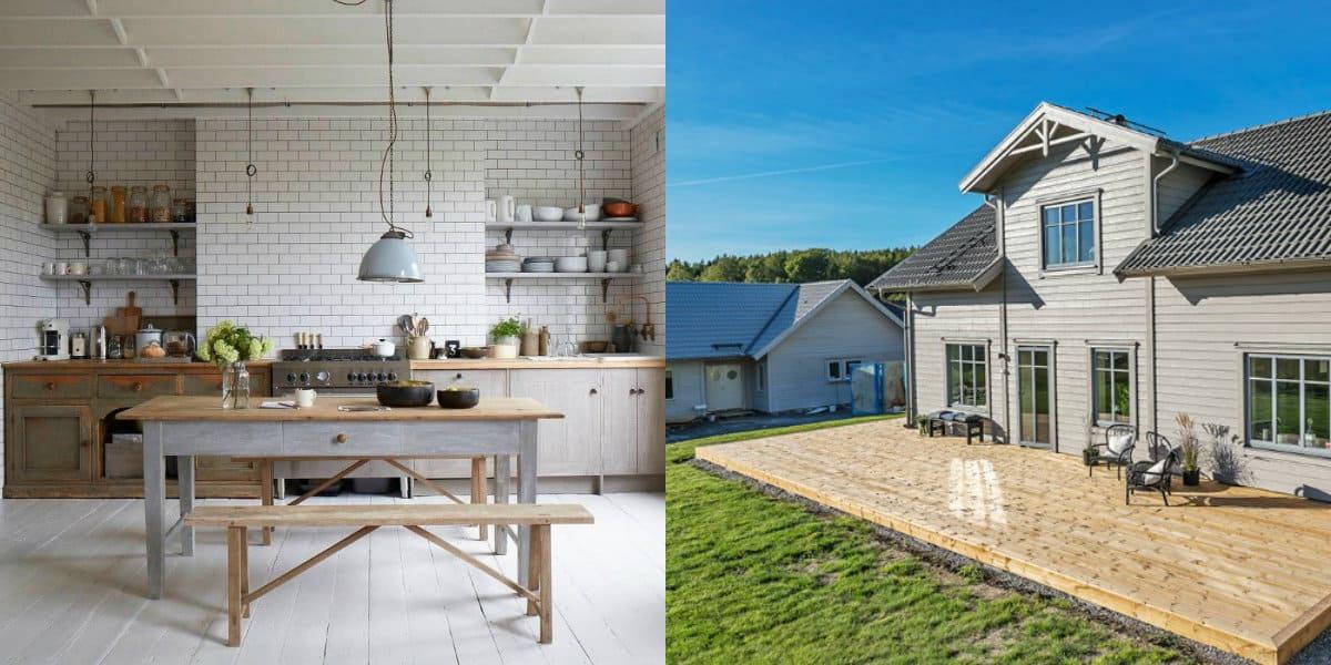 Скандинавский стиль дома: кухня