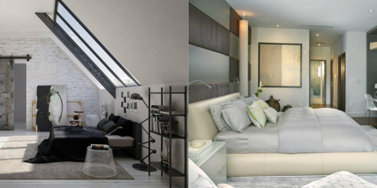 Современный дизайн спальни: лофт