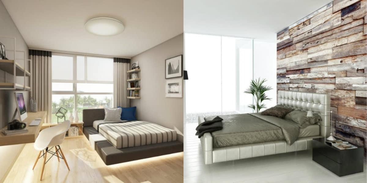 Современный дизайн спальни: шторы