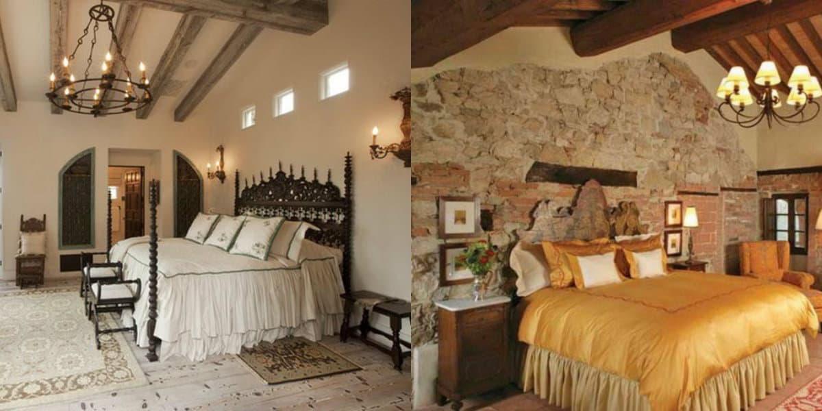 Спальня в итальянском стиле: отделка потолка