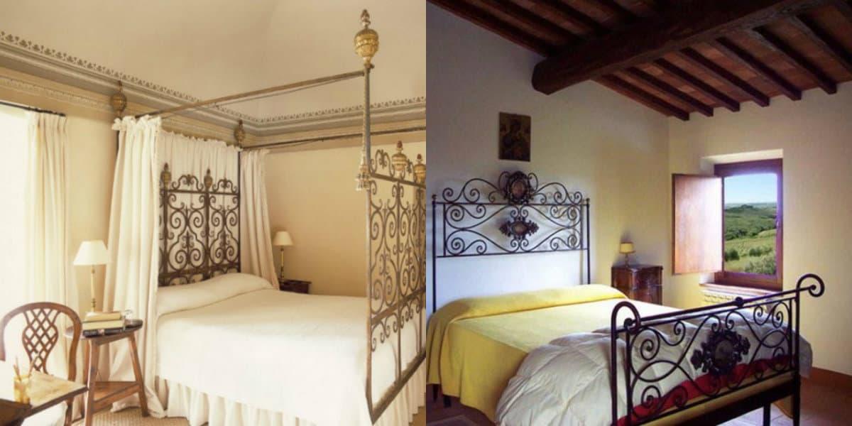 Спальня в итальянском стиле: кровать с балдахином