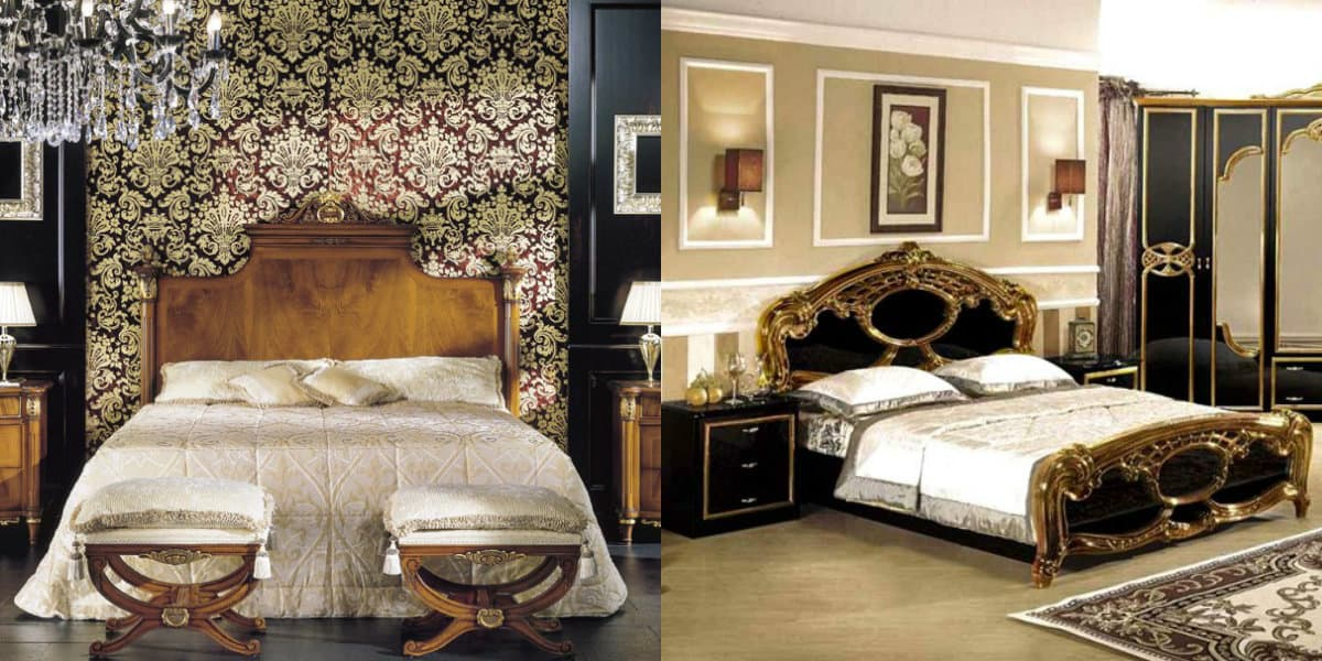 Спальня в итальянском стиле: барокко
