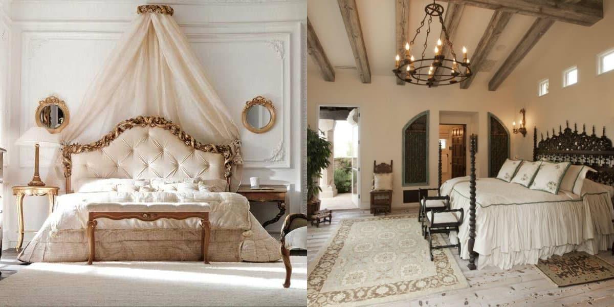 Спальня в итальянском стиле: кровать