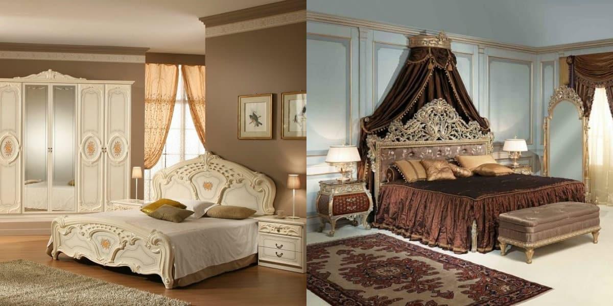 Спальня в итальянском стиле: балдахин