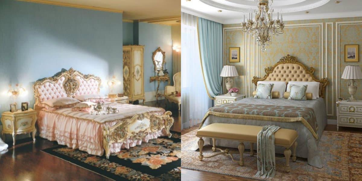 Спальня в итальянском стиле: исголовье кровати