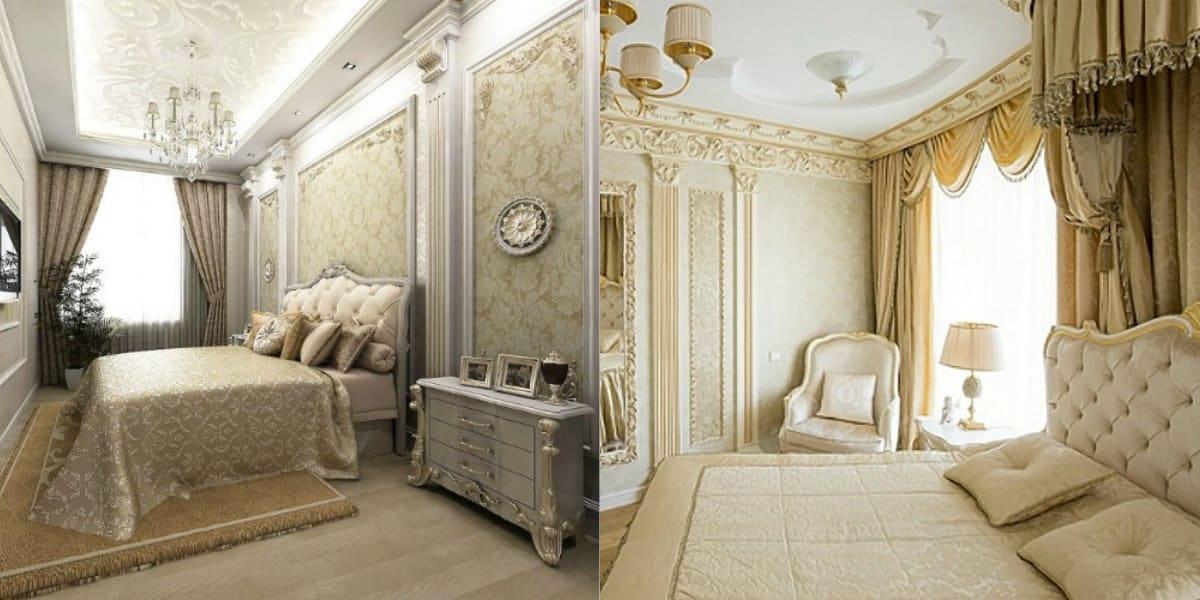 Спальня в итальянском стиле: окна