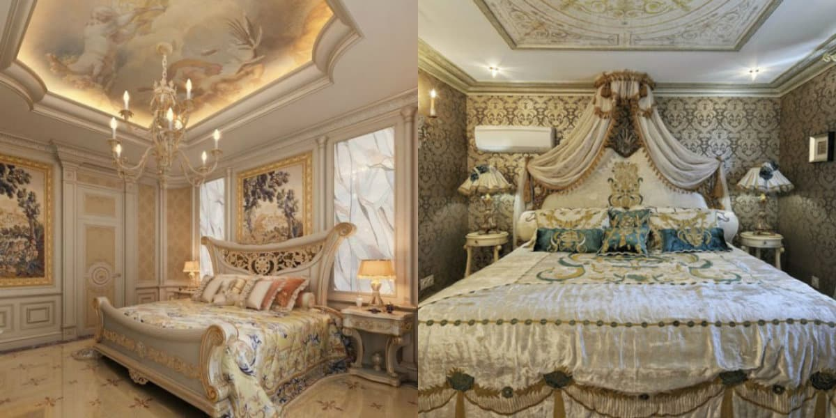 Спальня в итальянском стиле: потолочная роспись