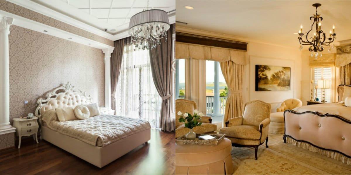 Спальня в классическом стиле : дизайн окон