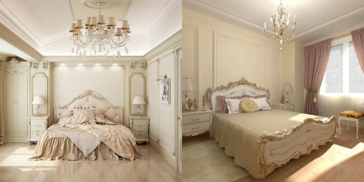 Спальня в классическом стиле : мебель