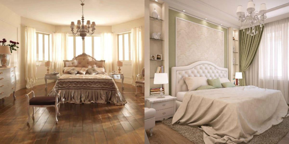 Спальня в классическом стиле : светильники