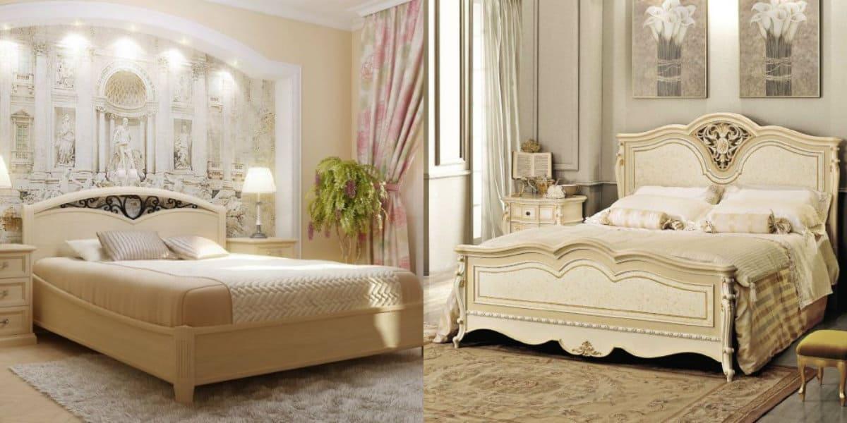 Спальня в классическом стиле : декор