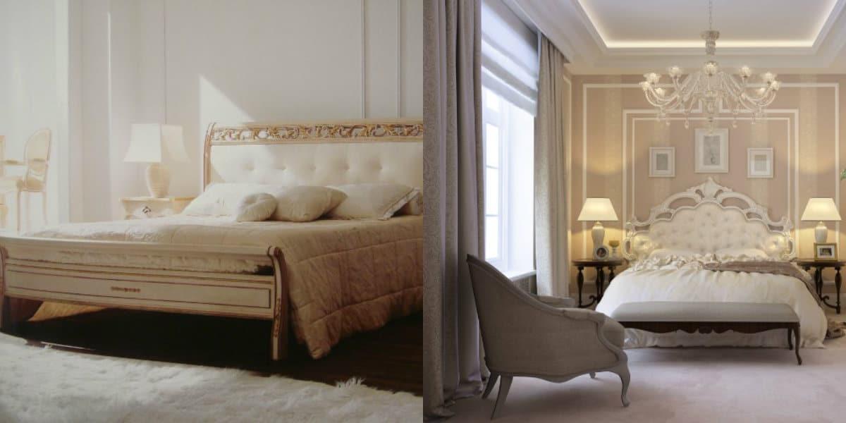 Спальня в классическом стиле : бледные цвета