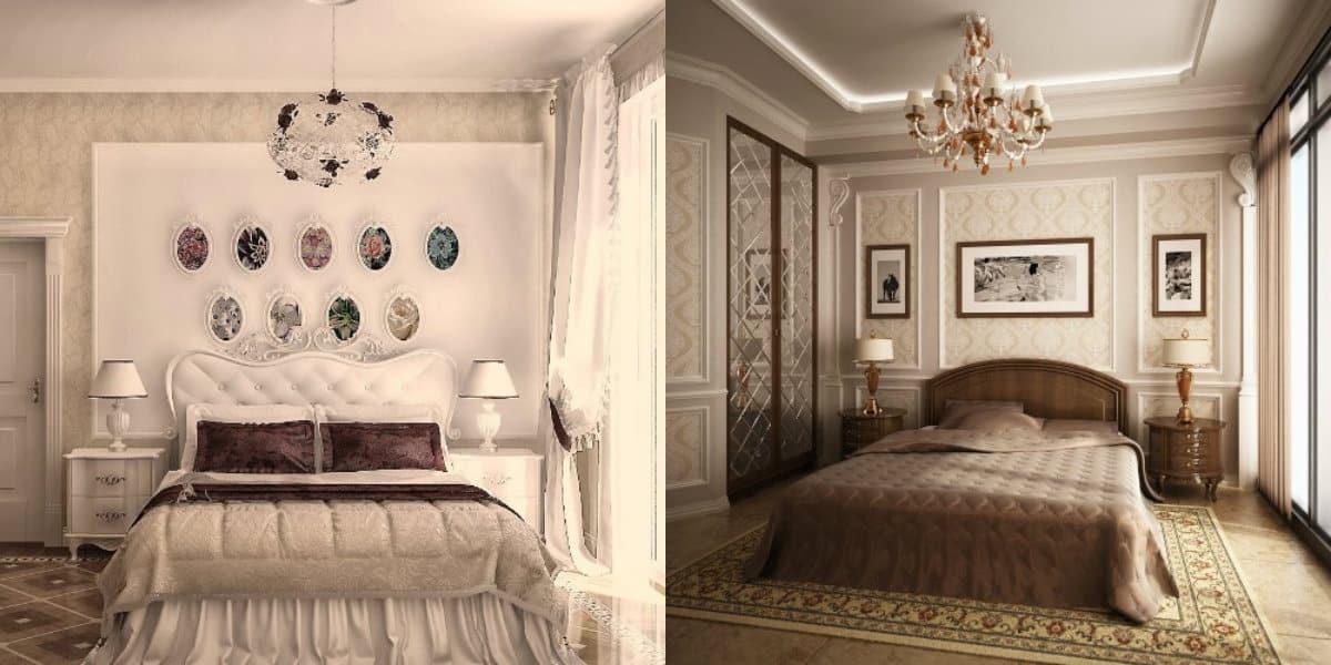 Спальня в классическом стиле : кровать