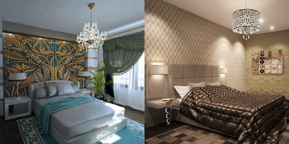 Спальня в стиле Арт деко : отделка стен