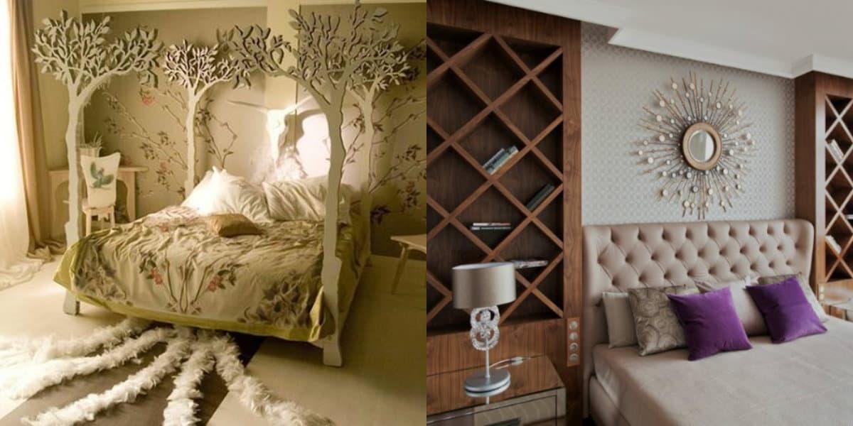Спальня в стиле Арт деко : оригинальнте кровати