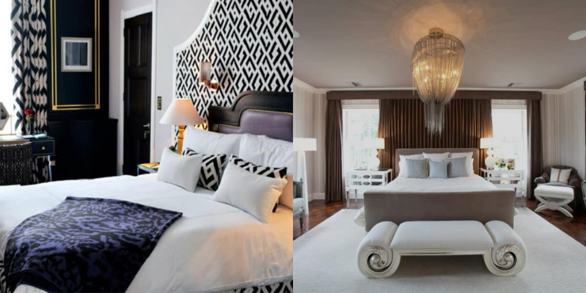 Спальня в стиле Арт деко : принт