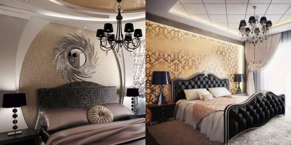 Спальня в стиле Арт деко : декор