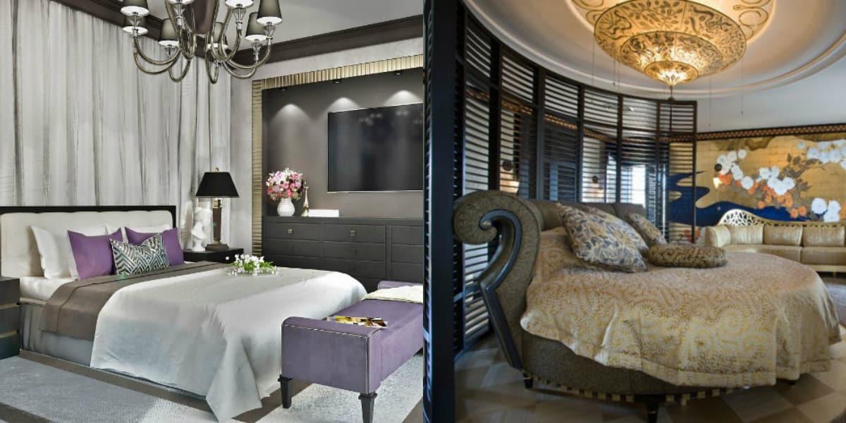Спальня в стиле Арт деко: круглая кровать