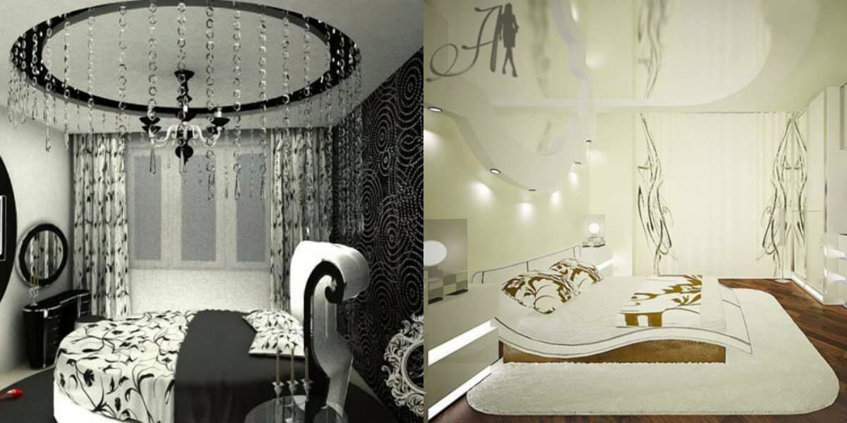 Спальня в стиле Арт деко : дизаяйн потолков