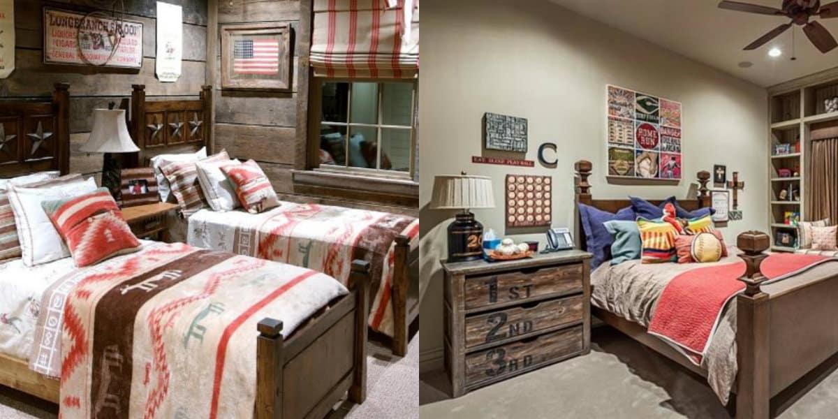 Спальня в стиле Кантри: детская спальня