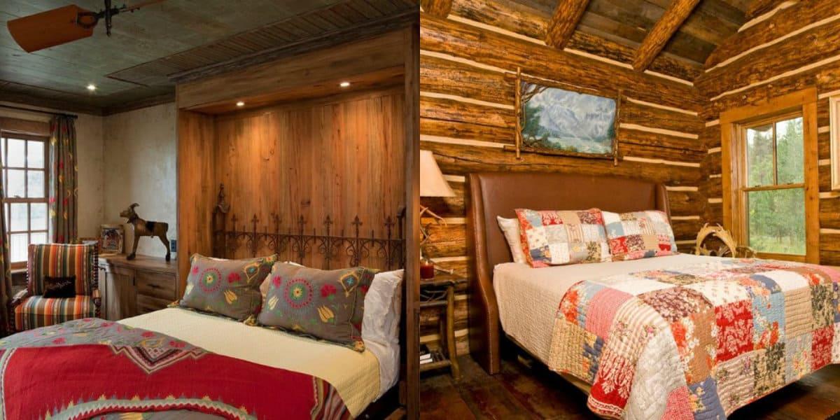 Спальня в стиле Кантри: оформление кровати