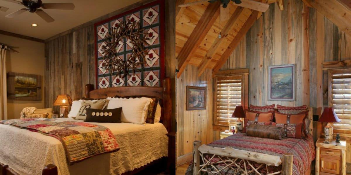 Спальня в стиле Кантри: декор