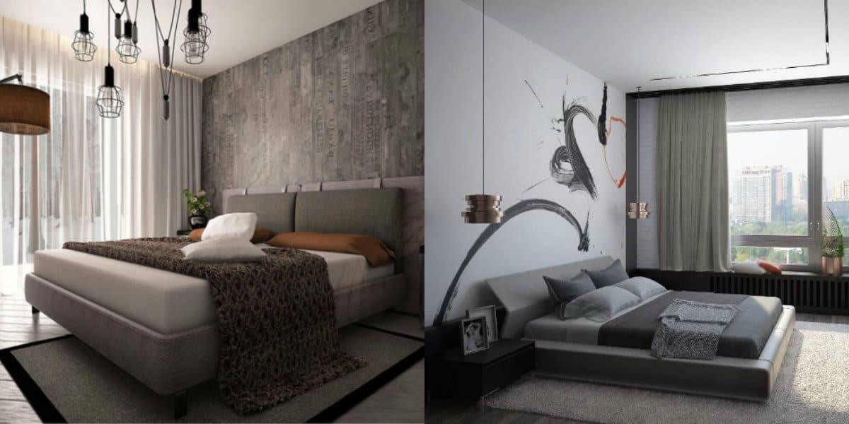 Спальня в стиле Лофт: бетон в отделке