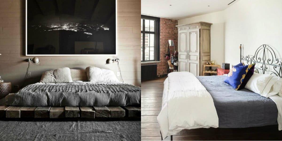 Спальня в стиле Лофт: белый интерьер