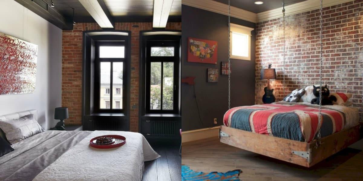 Спальня в стиле Лофт: декор
