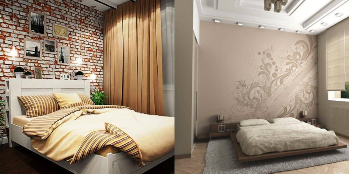 Спальня в стиле Лофт: шторы