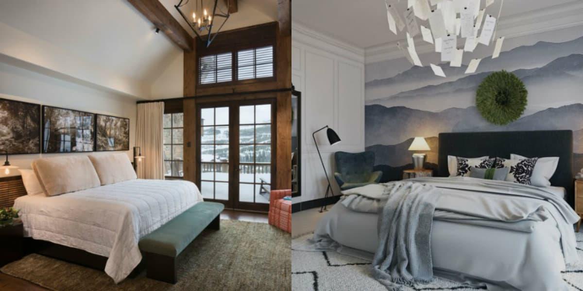 Спальня в стиле Модерн: декор