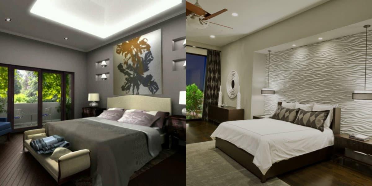 Спальня в стиле Модерн: освещение
