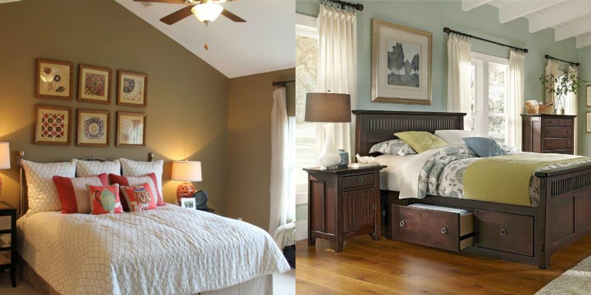 Спальня в стиле Модерн: картины в интерьере