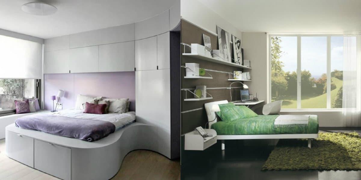 Спальня в стиле Модерн: оформление окон