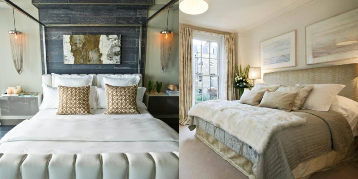 Спальня в стиле Модерн: текстиль